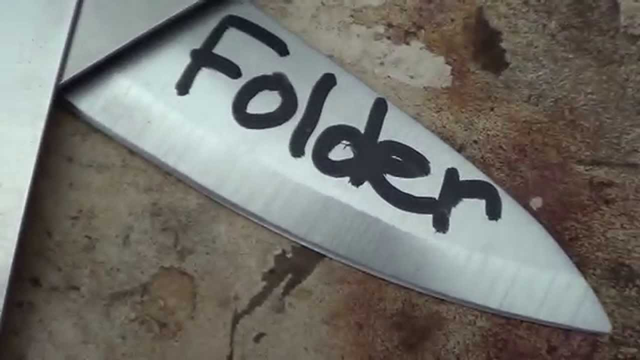 Turning 3 Chef\'s Knives into a Folding Pocket Knife - YouTube