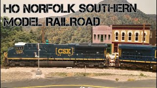 Realistic NS Model Railroad - FOREIGN POWER on the Asheville District w/ CSX, BNSF, & UP!