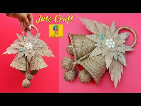 DIY-Christmas Jingle Bells From Jute | Easy Room Decor Jute Wall Hanging | Jute Rope Craft Idea