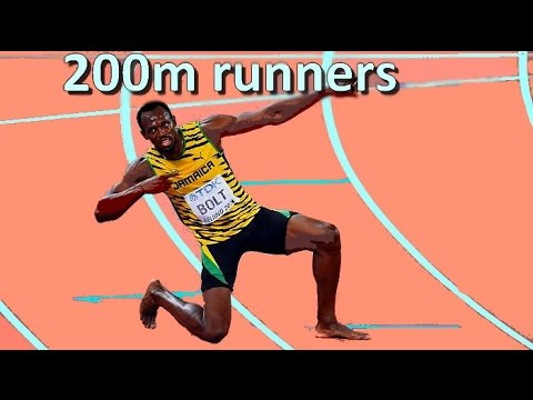Top 10 best 200m runners of all time (men) update HD