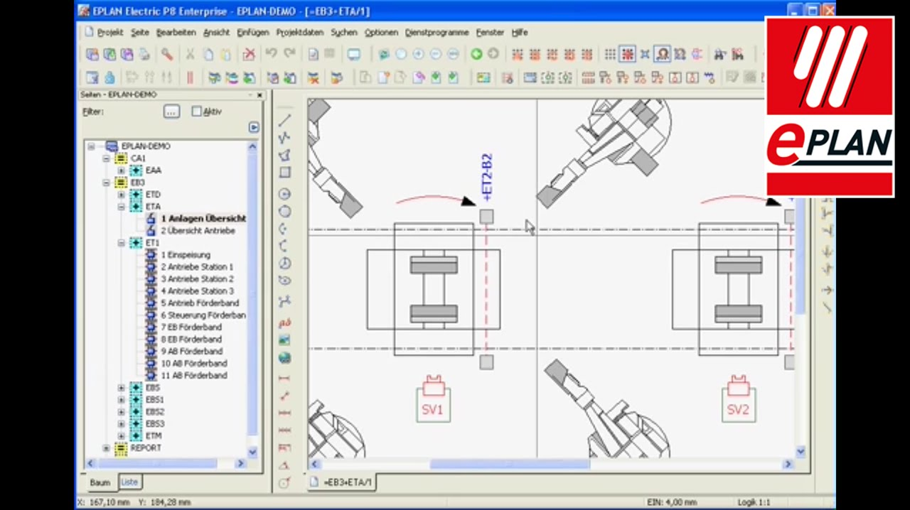 tutorial eplan electric p8 navigation in the project