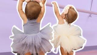 TWIN BABIES FIRST BALLET DANCE CLASS (SUPER CUTE)