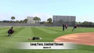 Miami Marlins - Jose Fernandez Spring Training toss 2015
