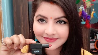Nykaa so matte mini lipstick review | shade naughty nude | best affordable lipstick for everyone |