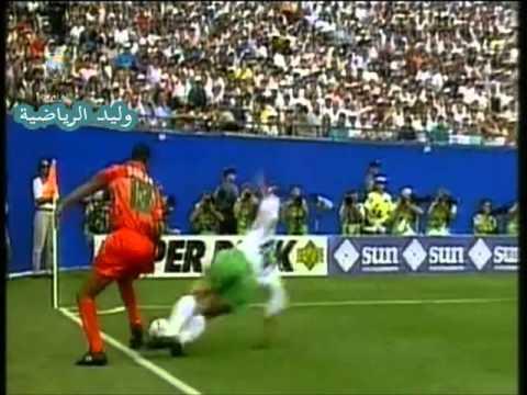 بهجا يتلاعب بالدفاع السعودي وهدف للمغرب كأس العالم 94 م
