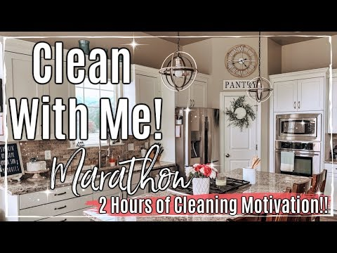 SUMMER CLEAN WITH ME MARATHON :: 2 HOURS OF SPEED CLEANING MOTIVATION :: MESSY HOUSE TRANSFORMATION