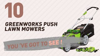 Greenworks Push Lawn Mowers // New & Popular 2017