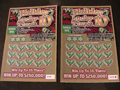 NEW OHIO LOTTERY HOLIDAY LUCKY TIMES 10 TICKETS!!