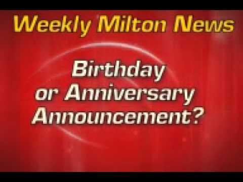 "OSM Media's ""Weekly Milton News"" Template"