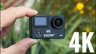 EKEN V8S Real 4K Action Camera REVIEW - 4K EIS