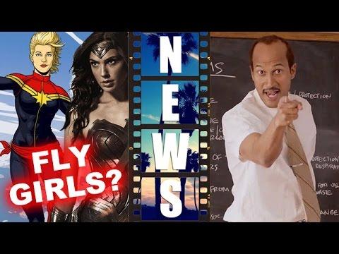 Wonder Woman won't fly! Captain Marvel cast? Key & Peele Substitute Teacher! - Beyond The Trailer