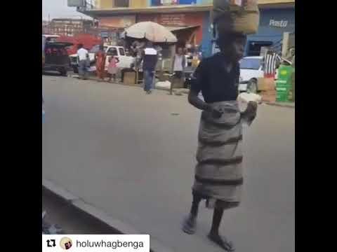 Mad Woman Grooving To Olamide Baddo #WoChallenge
