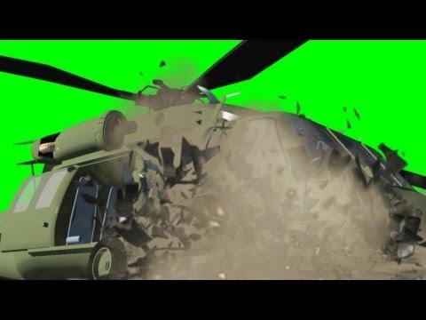 Helicopter Crash Effect - Black Hawk - free green screen thumbnail
