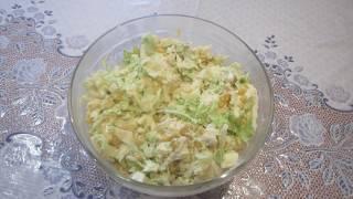Салат с пекинской капусты и куриного мяса.