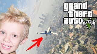 Как угнать самолет в GTA 5 Смотреть видео прохождение GTA V