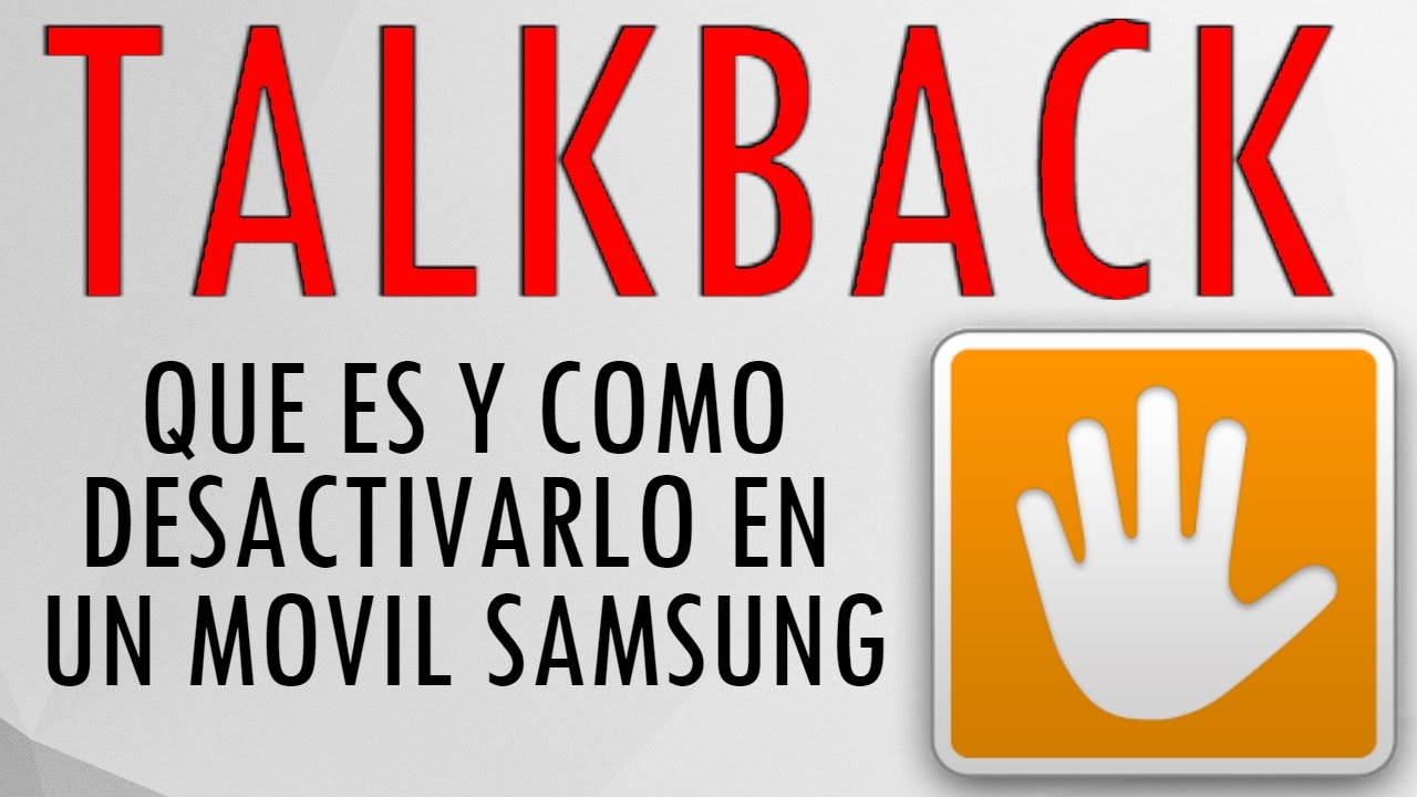 Activar O Desactivar Talk Back Explicacion En Samsung S6 Edge Plus Youtube