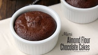Mini Almond Flour Chocolate Cakes Recipe