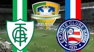 América Mineiro x Bahia - 11/05/2016 | Copa do Brasil 2016 - 1° Jogo da 2° Fase [PES 2016]