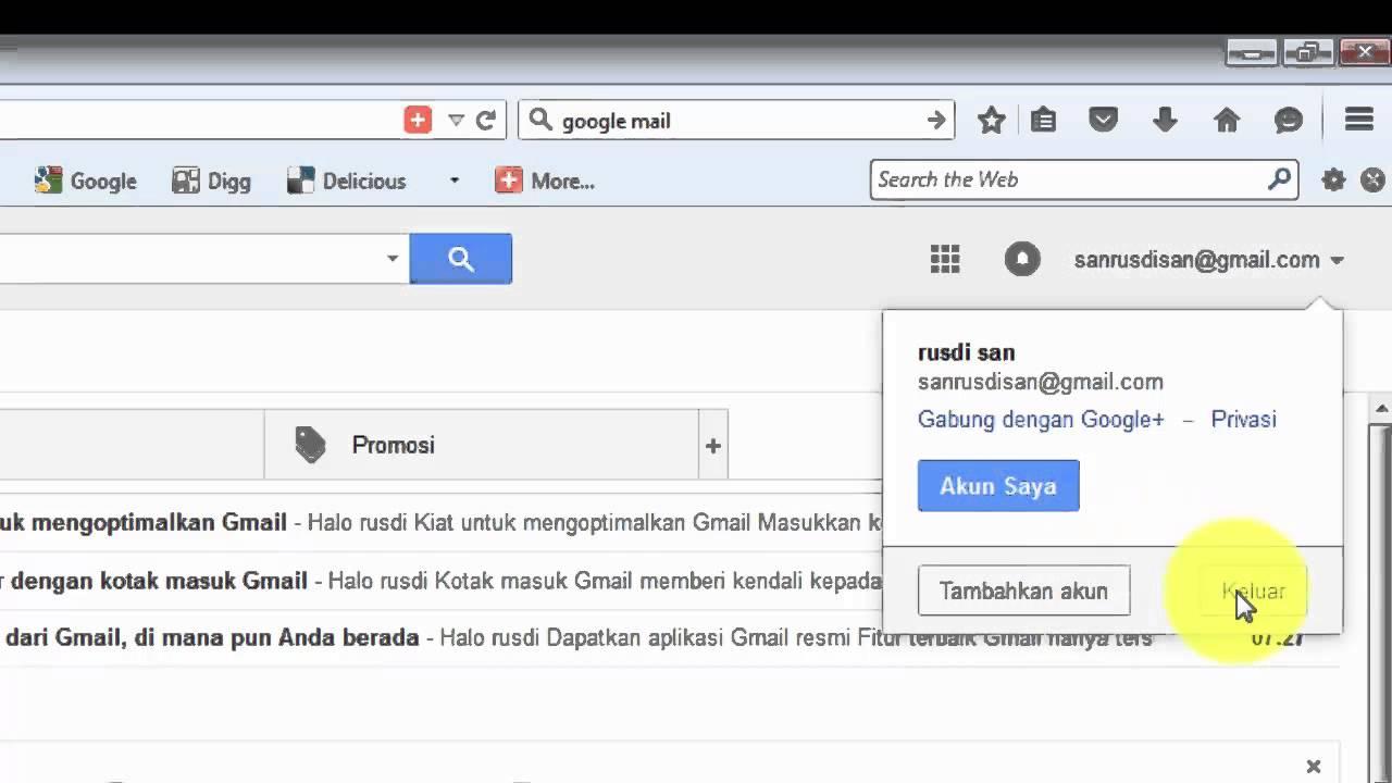Cara Keluar Dari Akun Gmail Youtube