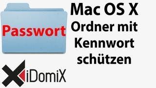 Ordner mit Kennwort schützen am Mac - verschlüsseltes Image Container Mac