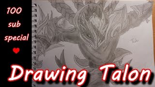 Drawing Talon! ♥♥ 100 sub special ♥♥ - League of Legends (LoL)