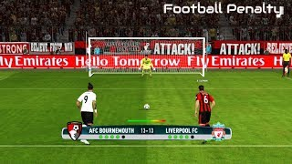 Bournemouth vs Liverpool | Penalty Shootout | PES 2017 Gameplay