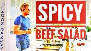 How To Make Gordon Ramsay's Spicy Beef Salad | Full Recipe | Almost Anything