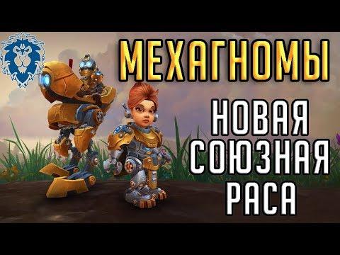 """МЕХАГНОМЫ - новая союзная раса для Альянса в патче 8.3 Battle For Azeroth """"Видение Н'зота"""""""