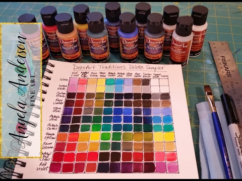 Creating a Color Mixing Guide Chart Acrylic Painting Tutorial for
