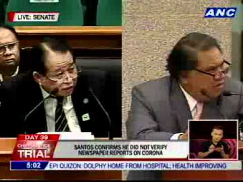 Santos: I feel that intellectual integrity compelled me to file this case against Corona