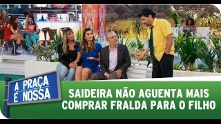 A Praça É Nossa (11/09/14) - Saideira não aguenta mais comprar frauda para o filho