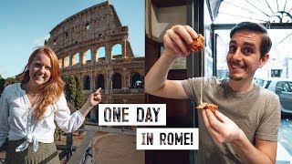 24 Hours in ROME! Best Street Food + Exploring the City (Italy)