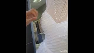 Процесс создания свадебного платья Эльвира с люневильской вышивкой