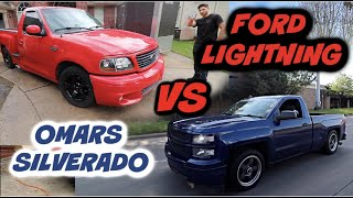 RACING THE FORD LIGHTNING VS OMARS SILVERADO