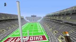 Ohio Stadium and Redstone Script Ohio in Minecraft