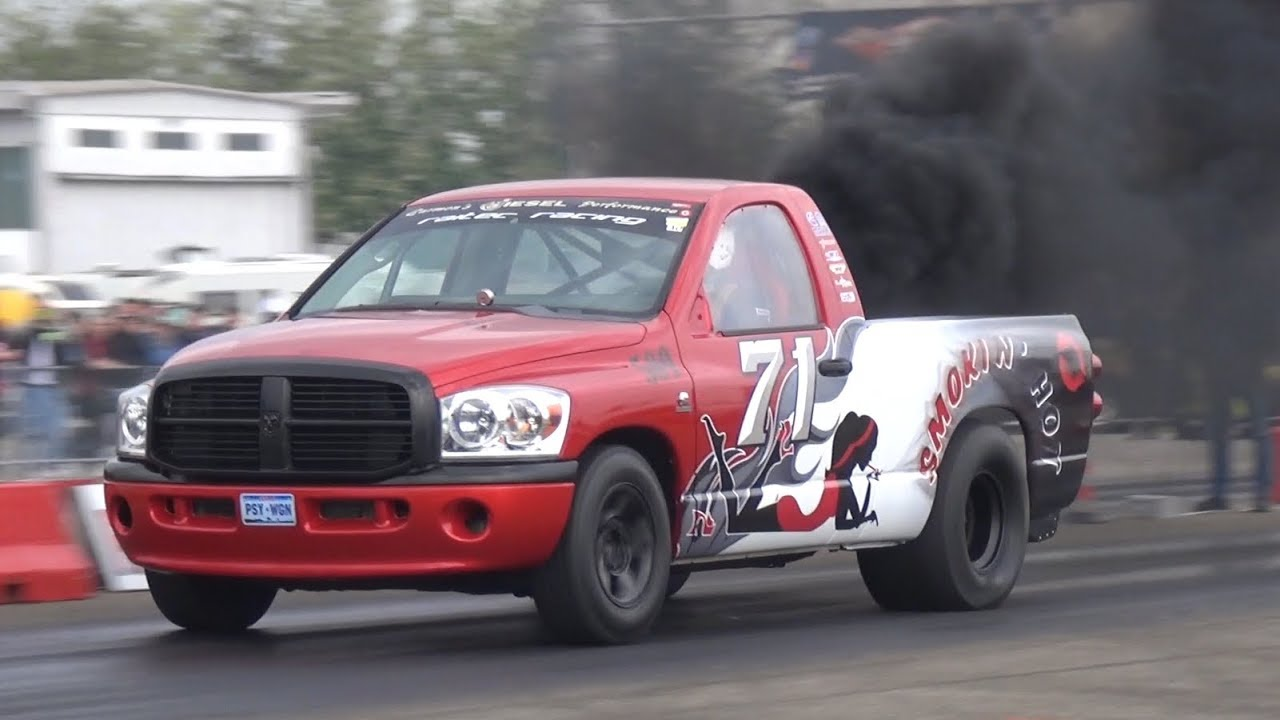 2017 Dodge Diesel >> 1000HP Twin Turbo Diesel Cummins DODGE RAM - 1/4 Mile Drag Racing! - YouTube