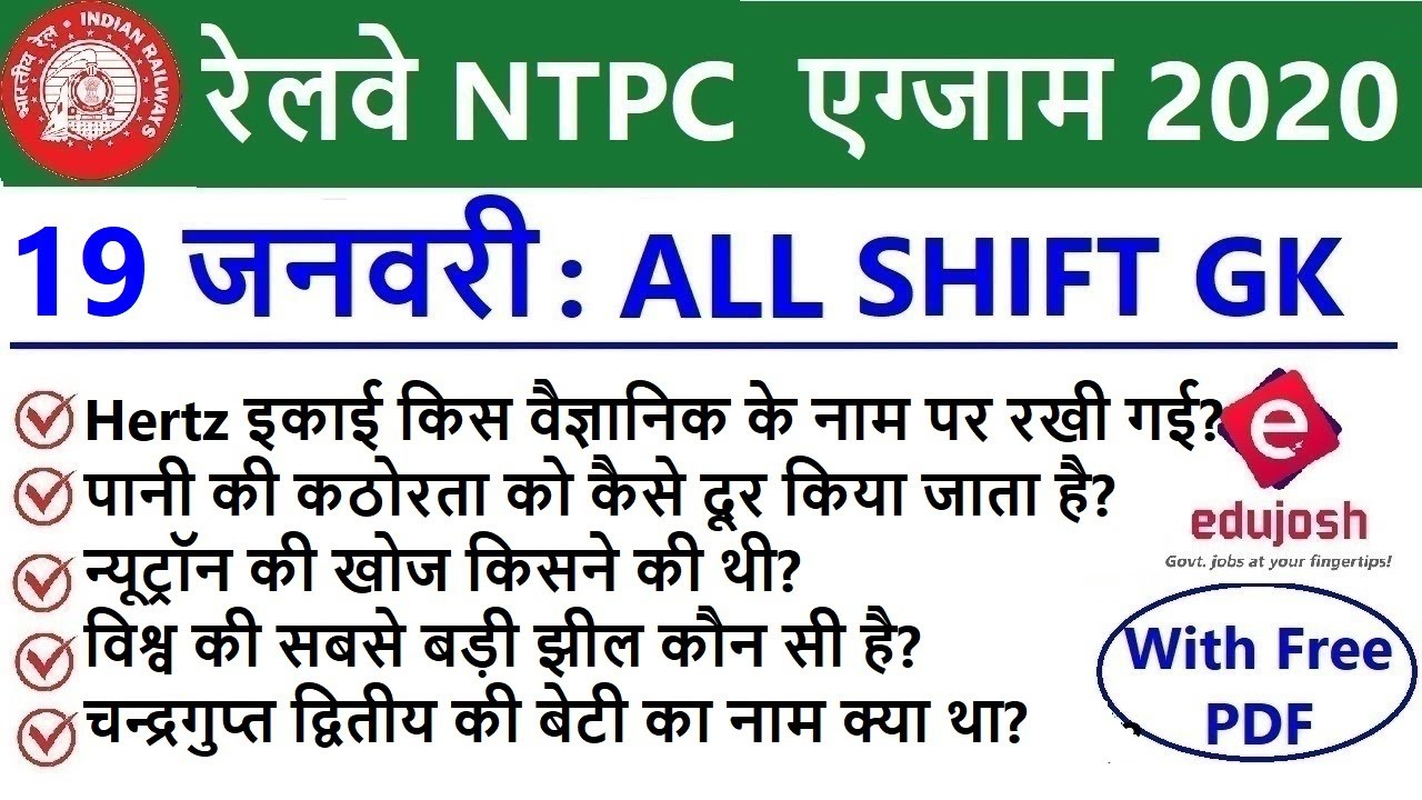 RRB NTPC Exam Analysis 2020 / RRB NTPC 19 January 2021 - ALL Shift Asked Question / RRB Exam Review
