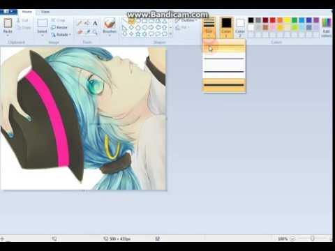 كيفية الرسم على الصور في برنامج الرسام Youtube