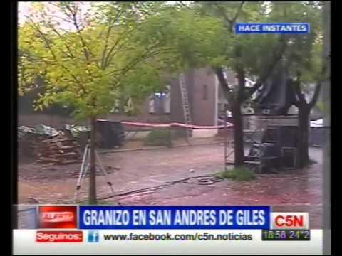 C5N GRANIZO EN SAN ANDRES DE GILES