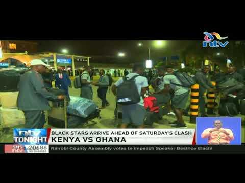 Black Stars arrive ahead of Saturday's clash with Harambee Stars