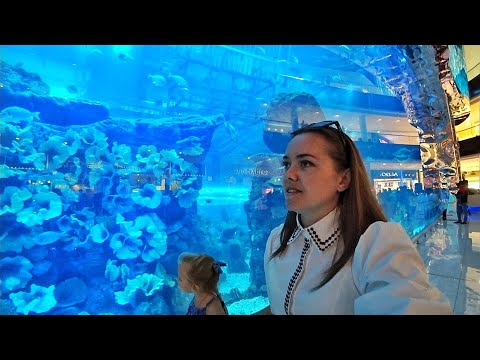 ВЛОГ ОАЭ 🇦🇪 Дубай. Dubai Mall Aquarium & Underwater Zoo 27.11.2017