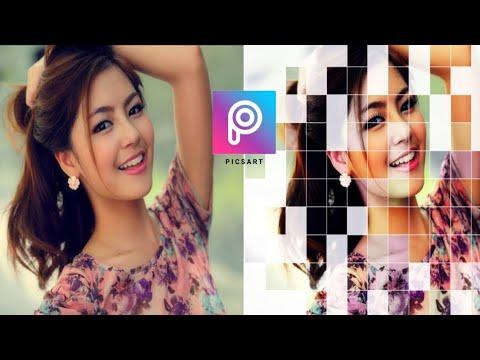 PicsArt Grid Effect | Picsart Editing Tutorial | Picsart Photo Editing