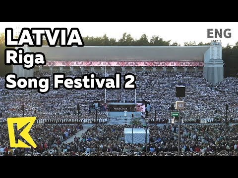 【K】Latvia Travel-Riga[라트비아 여행-리가]노래 축제 2 대규모 합창/Song Festival/Ligo/Chorus/Mezaparka Liela estrade