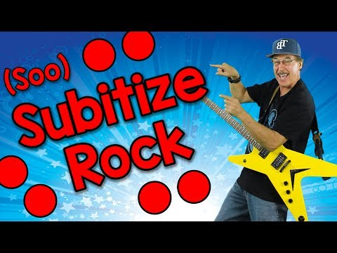 Subitize Rock soobitize  Math Song for Kids  Jack Hartmann