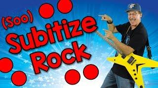 Subitize Rock (soo-bi-tize)   Math Song for Kids   Jack Hartmann