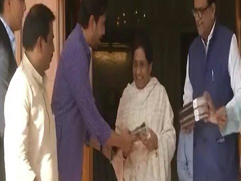 RLD leader Jayant Chaudhary meets BSP supremo Mayawati