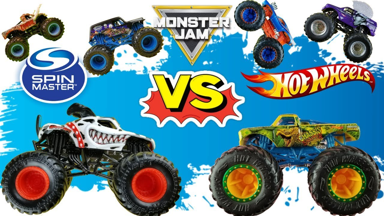 Monster Jam Monster Trucks Hot Wheels Vs Spin Master 2019 Championship Youtube