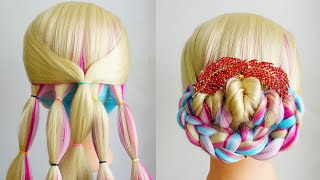 New Easy Hairstyle With Braids Low Bun Hairstyle For Wedding Simple Hairstyle Bridal