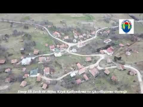 Sinop İli Sazlı Akbaş Köyü havadan çekim Sinop Davul Zurna Eşliğinde
