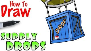 How to Draw the Supply Drop | Fortnite